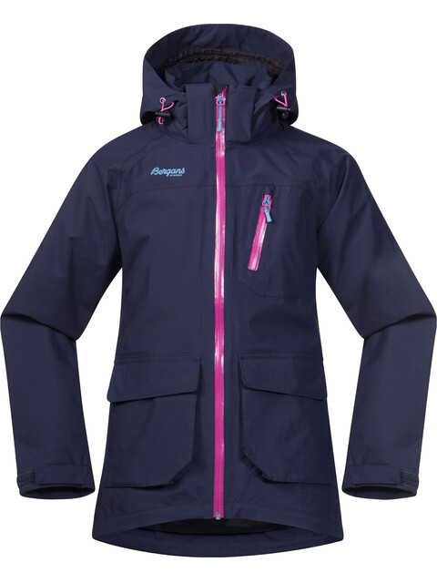 Bergans Youth Folven Jacket Navy/Pink Rose/Glacier